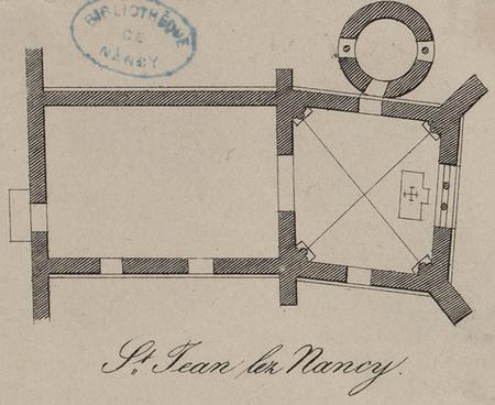 Plan de S[ain]t Jean-lès-Nancy