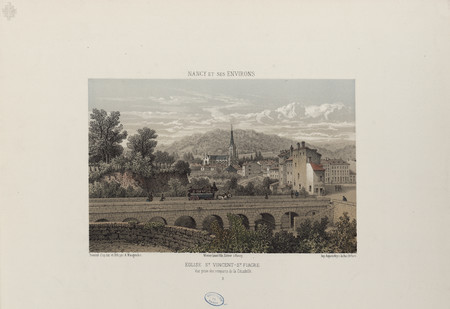 Église S[ain]t Vincent - S[ain]t Fiacre, vue prise des remparts de la Cita…