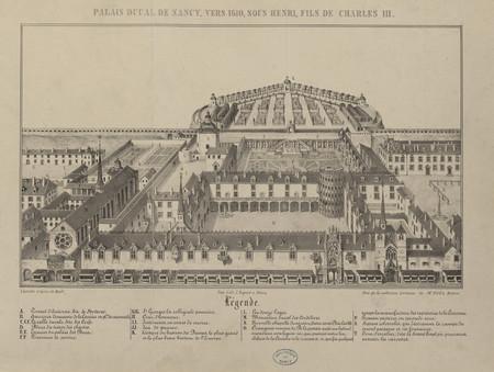 Palais ducal de Nancy, vers 1610, sous Henri, fils de Charles III