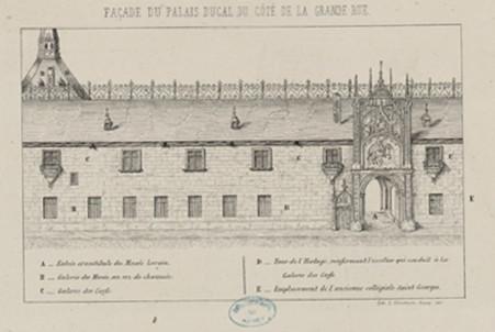Façade du Palais ducal du côté de la Grande rue
