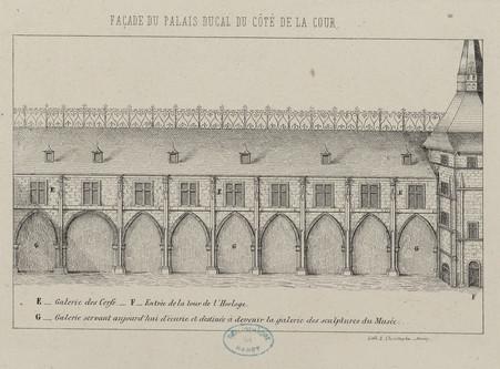 Façade du Palais ducal du côté de la cour