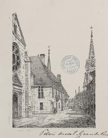 Palais ducal du côté de la grande rue : 364
