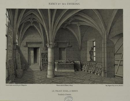 Le Palais Ducal à Nancy. Vestibule d'entrée