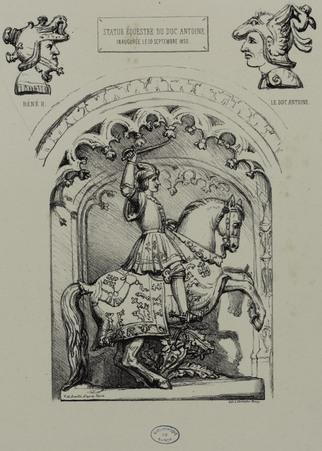Statue équestre du duc Antoine inauguré le 10 septembre 1850