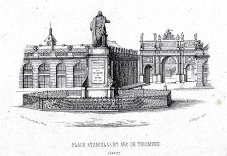 Place Stanislas et arc de triomphe (Nancy)