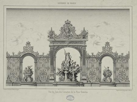 Vue de l'une des fontaines de la Place Stanislas