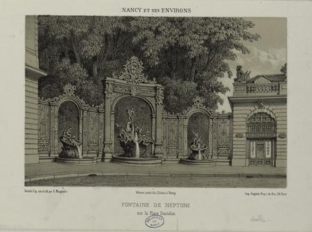 Fontaine de Neptune sur la place Stanislas