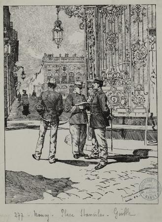 Nancy. Place Stanislas. Grille.