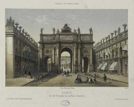 Nancy. Arc de triomphe de la Place Carrière