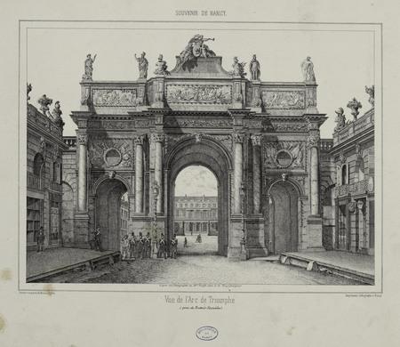Vue de l'Arc de Triomphe (prise du Trottoir Stanislas)