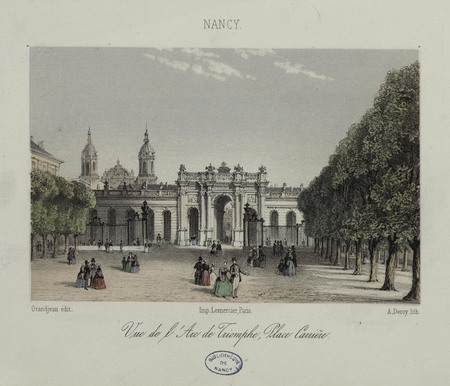 Vue de l'Arc de Triomphe, place Carrière