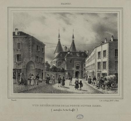 Vue extérieure de la porte Notre-Dame (autrefois de la Craffe)