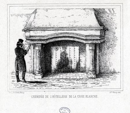 Cheminée de l'hôtellerie de la Croix-Blanche