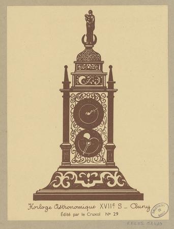 Horloge astronomique XVIIe s, Cluny