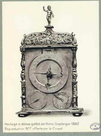 Horloge à dôme galbé de Hans Gasteiger 1562