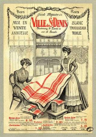 Mise en vente annuelle : blanc, trousseaux, toile