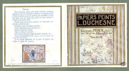 Papiers peints L. Duchesne