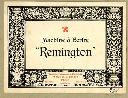 """Machine à écrire """"Remington"""""""