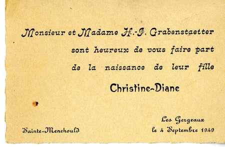Monsieur et madame H.-I. Grabenstaetter