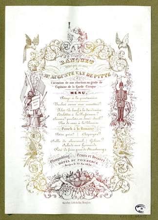 Banquet offert par ses amis à Mr Auguste van de Pitte