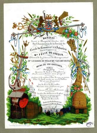 Banquet donné à Bruges