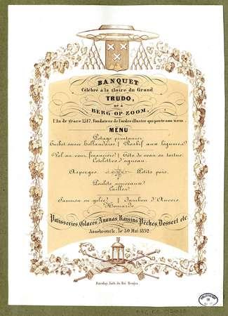Banquet célébré à la gloire du grand Trudo