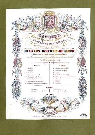 Banquet offert par messieurs les membres de la confrérie de St Michel