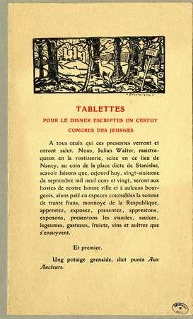 Tablettes pour le disner