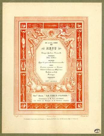 28 avril 1908 : menu