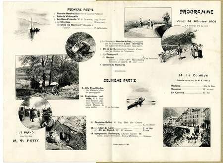 Programme du jeudi 14 février 1901