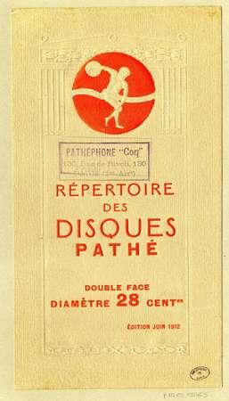 Répertoire des disques Pathé