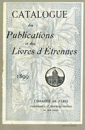 Catalogue des publications et des livres d'étrennes