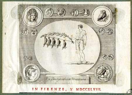 Marque typographique Ex dactyliotheca strozziana
