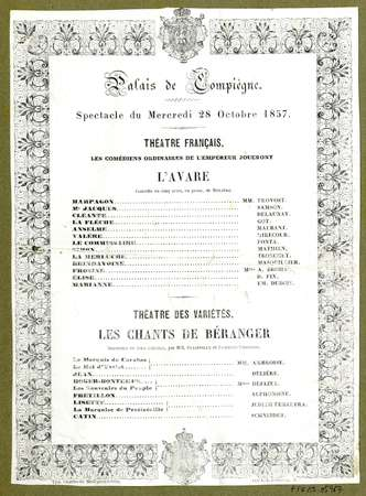 Spectacle du mercredi 28 octobre 1857