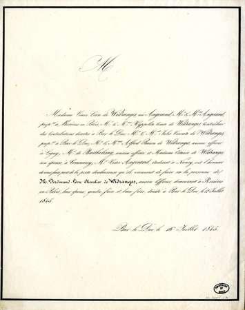 Madame veuve Léon de Widranges