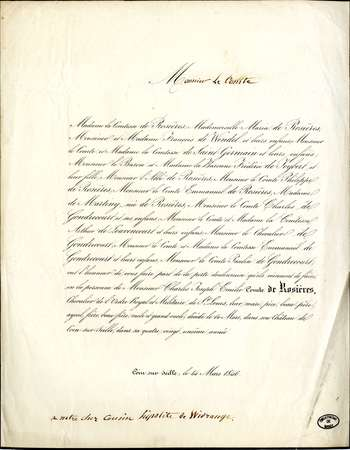 Madame la comtesse de Rosières