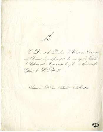 Le duc et la duchesse de Clermont-Tonnerre