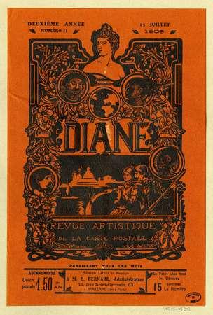 Diane : revue artistique de la carte postale ; deuxième année, No. 11