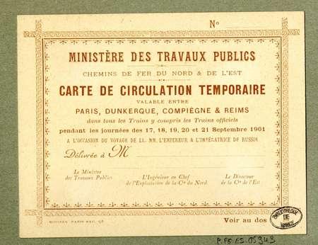 Carte de circulation temporaire
