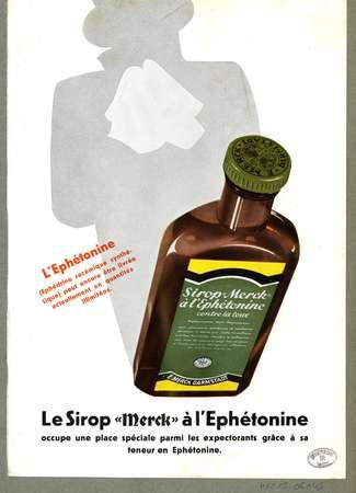 """Sirop """"Merck"""" à L'ephétonine"""