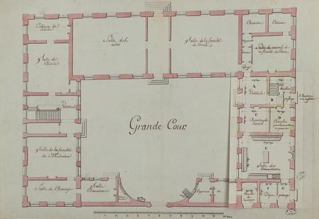 Plan du Rez de Chaussée du Bâtiment de l'Université de Nancy pour servir à…