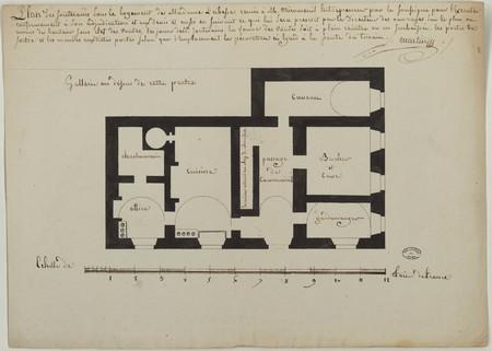 Plan des souterrains sous le logement de Madame l'abbesse, remis à M. Miro…