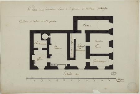 Plan des souterrains sous le logement de Madame l'abbesse