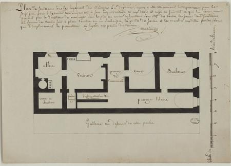 Plan des souterrains sous le logement de Madame la Doyenne, remis à M. Mir…