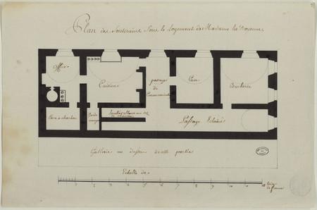 Plan des souterrains sous le logement de Madame la Doyenne