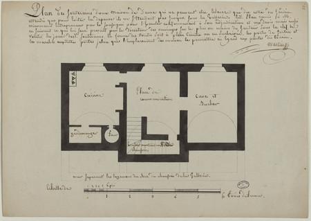 Plan des souterrains d'une maison de Dame qui ne peuvent être éclairés que…