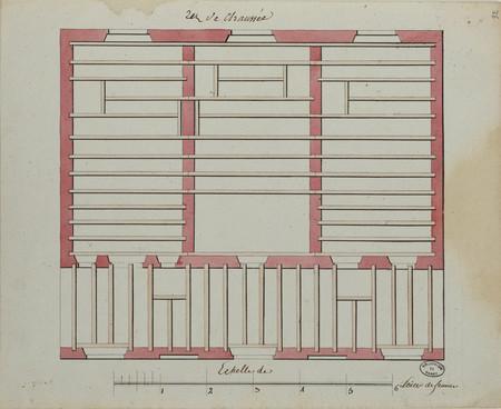 Plans des travées des planchers supérieurs du rez-de-chaussée et premier é…