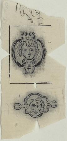Médaillons sculptés dans l'église des Cordeliers.
