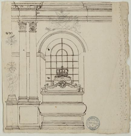 Cénotaphe dans la chapelle ronde des Cordeliers.