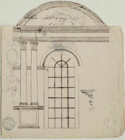 Fenêtre de l'intérieur de la chapelle ronde des Cordeliers.